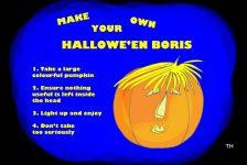 Halloween Boris Johnson cartoon