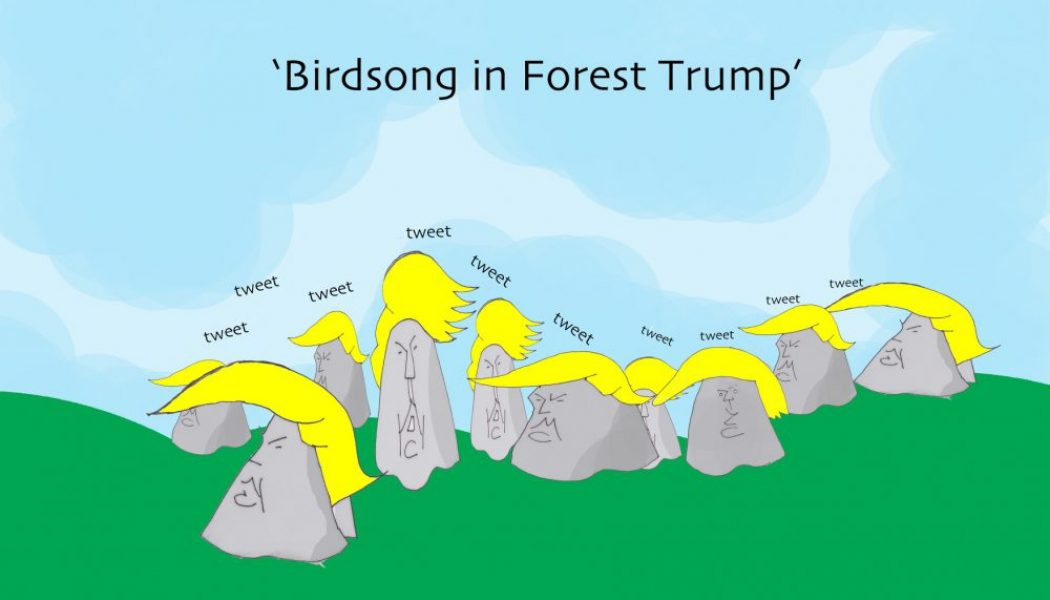 Ted Harrison cartoon on The Donald use of Twitter.