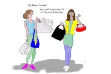 black Friday cartoon