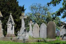 churchyard gravestones