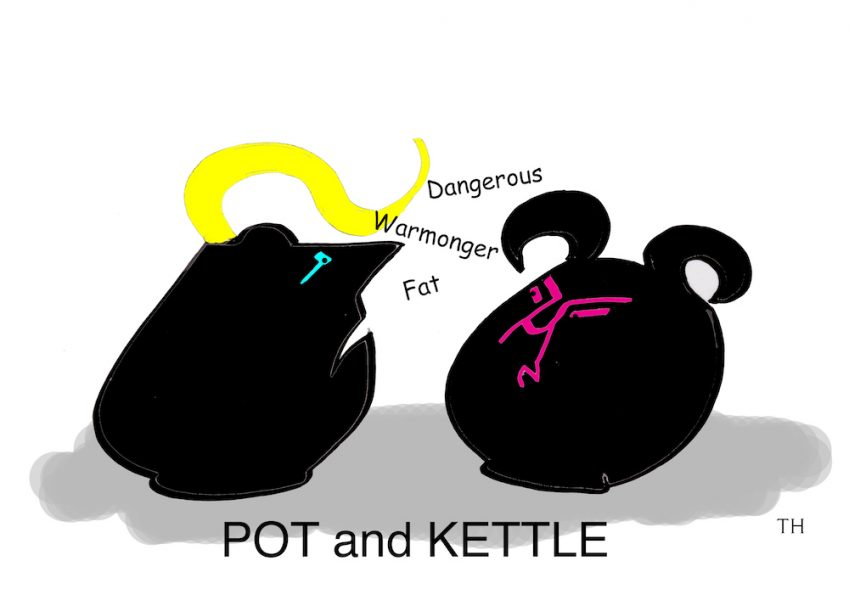 pot and kettle cartoon