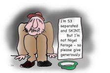 Nigel Farage skint cartoon
