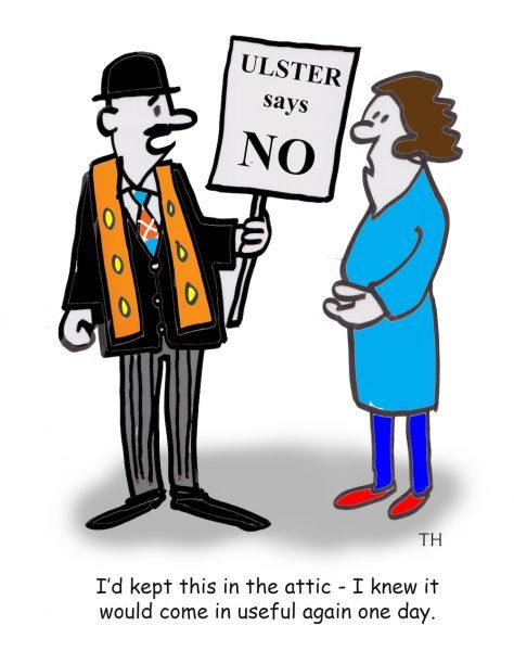 Ulster says no cartoon