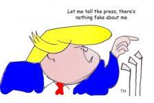 Fake Trump cartoon