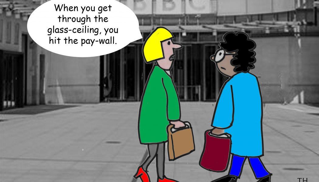 cartoon - glass ceiling gender pay gap