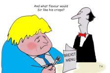 crisps Brexit cartoon