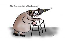 grandmother of parliaments cartoon