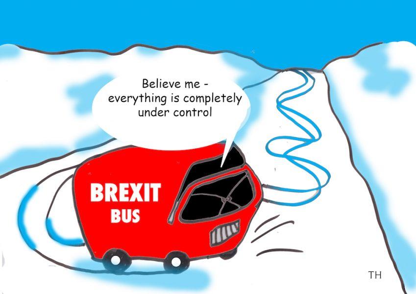 Brexit bus cartoon