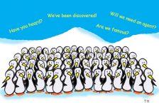 celebrity penguins cartoon