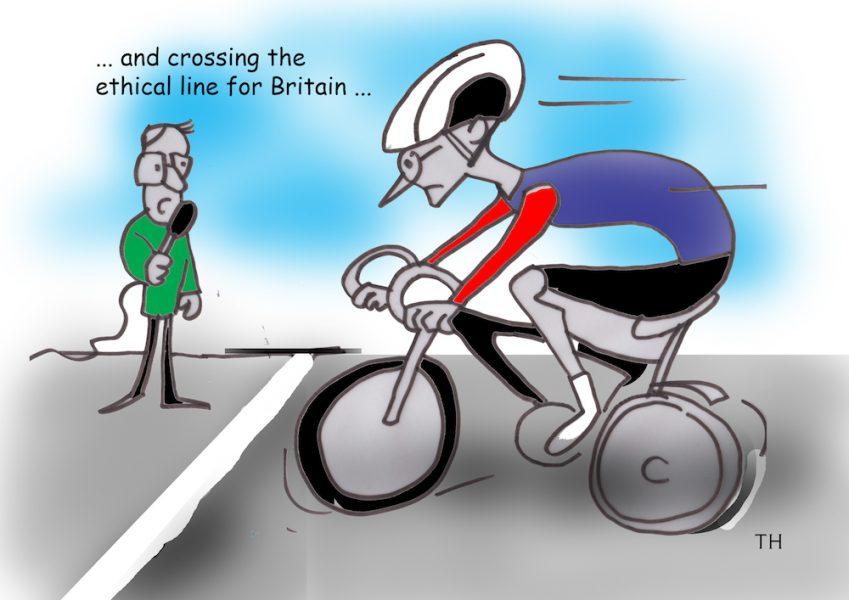 ethical line Bradley Wiggins cartoon