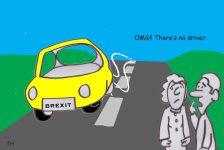No driver Brexit cartoon