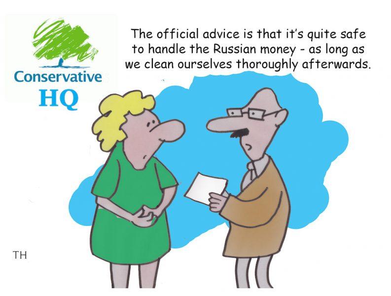 russian money cartoon