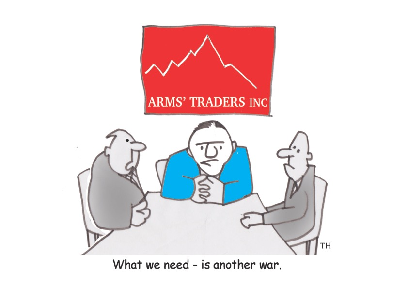 arms traders cartoon