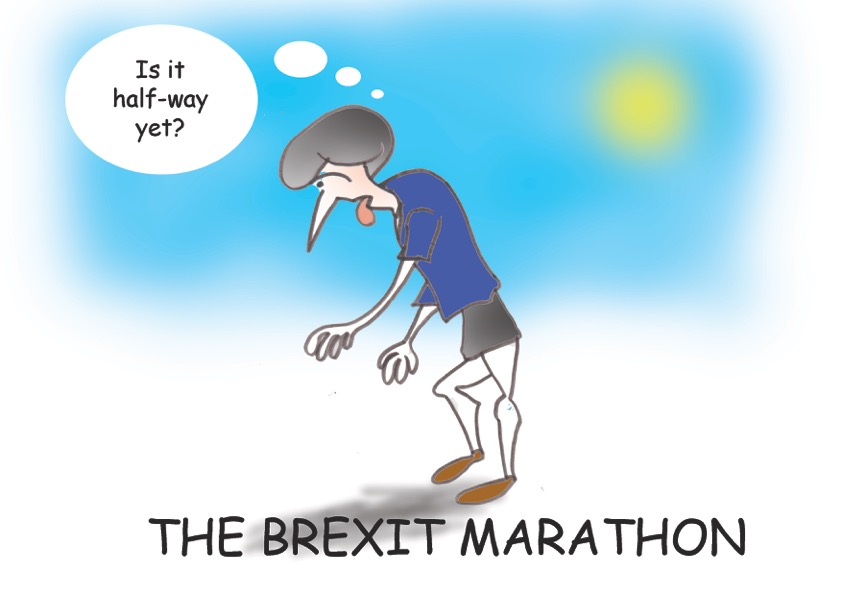 Brexit marathon cartoon