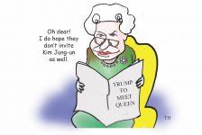 queen trump cartoon