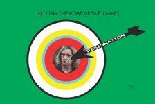 Hitting the target cartoon