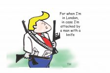 Trump for when I'm in London cartoon