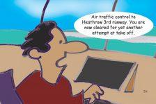 Heathrow third runway cartoon