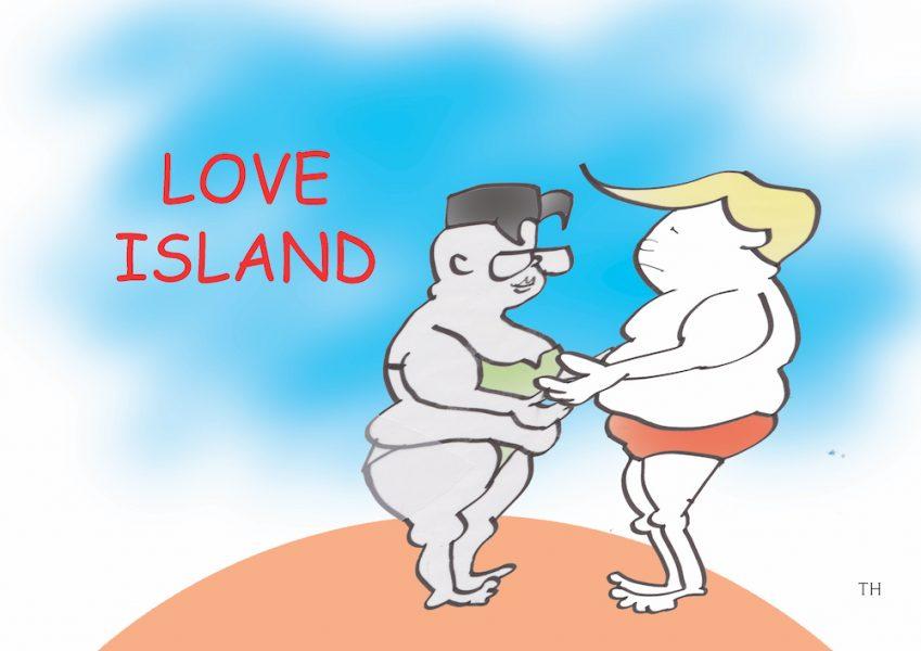 love island cartoon