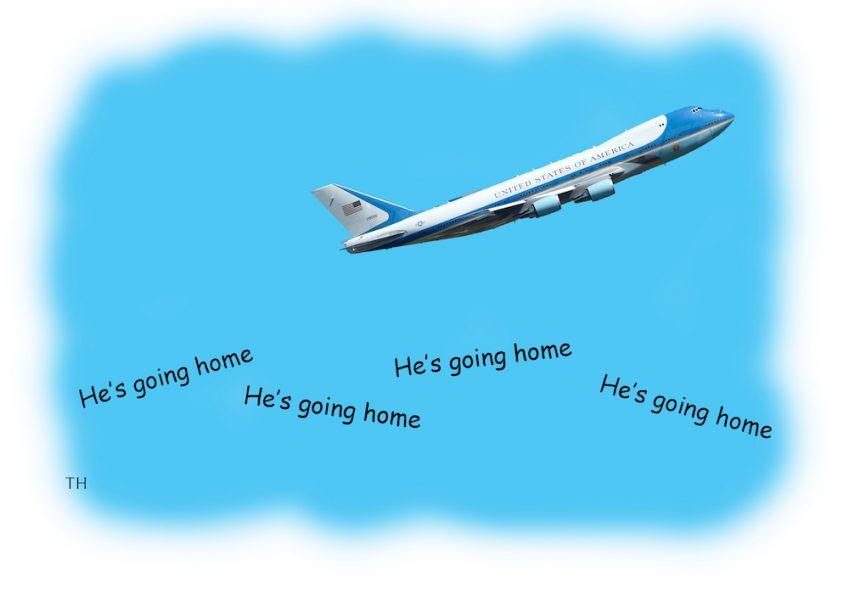 Going home Trump cartoon
