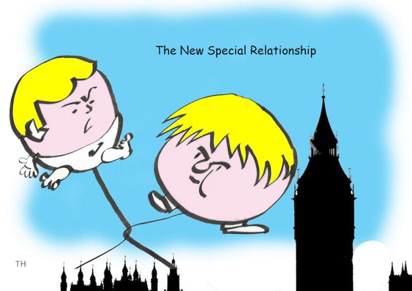 US UK special relationship cartoon