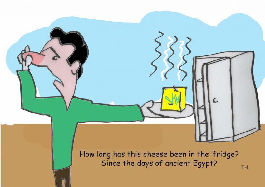 Cheese ancient Egypt cartoon