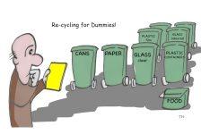 recycling cartoon
