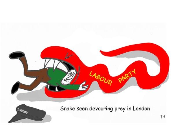 snake cartoon Labour
