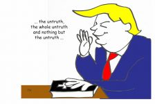 Untruth Trump cartoon