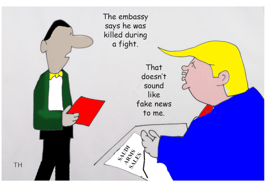 Saudi news cartoon