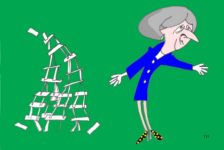 house of cards Brexit cartoon