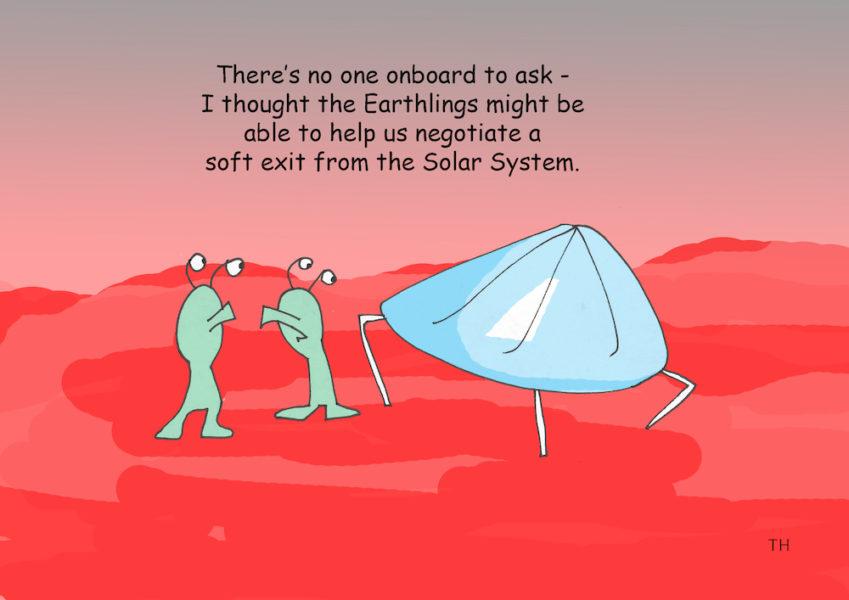 mars InSight probe cartoon