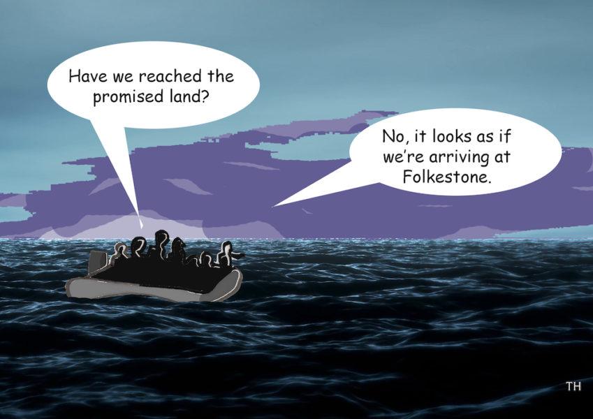 Folkestone migrants cartoon