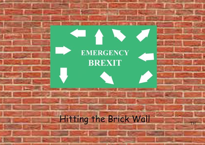 brick wall Brexit cartoon