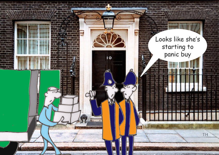 Panic buy Brexit cartoon