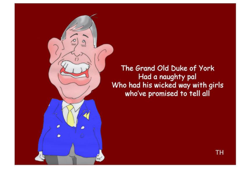 Prince Andrew Jeffrey Epstein cartoon