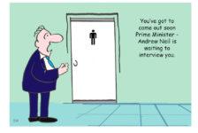 Boris Johnson Andrew Neil cartoon