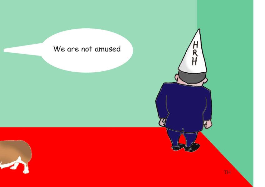 not amused Prince Andrew cartoon
