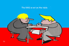 NHS on the table US UK trade deal