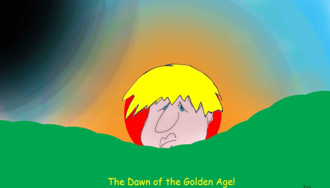 Boris Johnson golden age cartoon