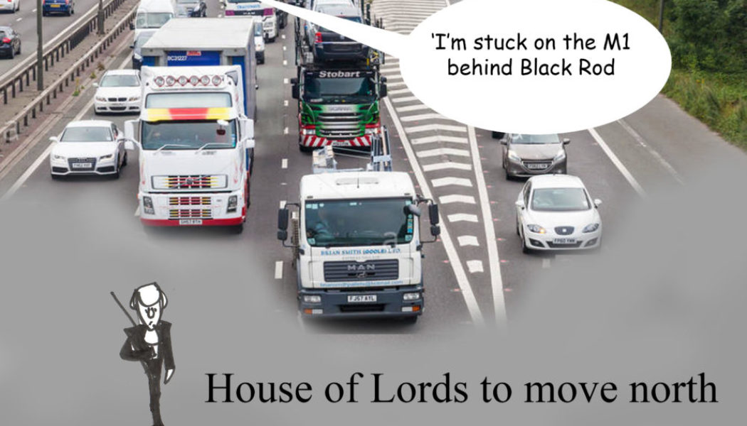 Ted Harrison cartoon on plans to move the House of Lords to the north