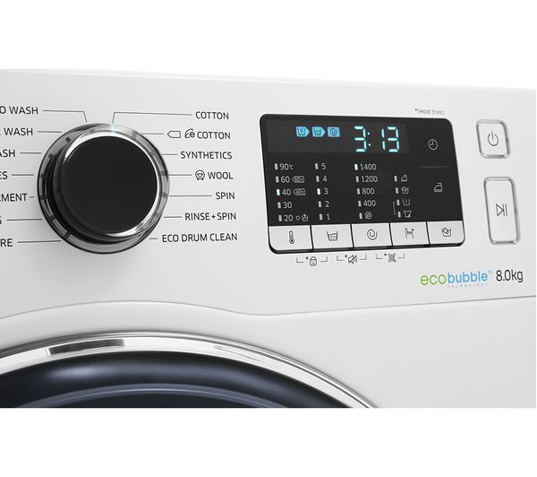 Samsung WW5000 Washing Machine with ecobubble™, 8kg WW80J5555FW/EU