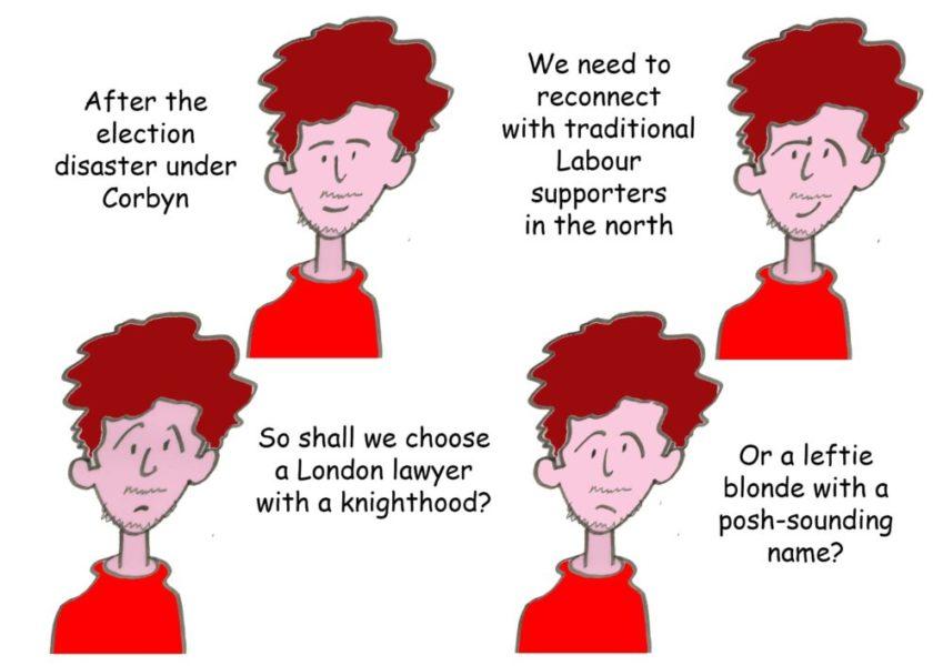 Ted Harrison cartoon on Labour leadership race