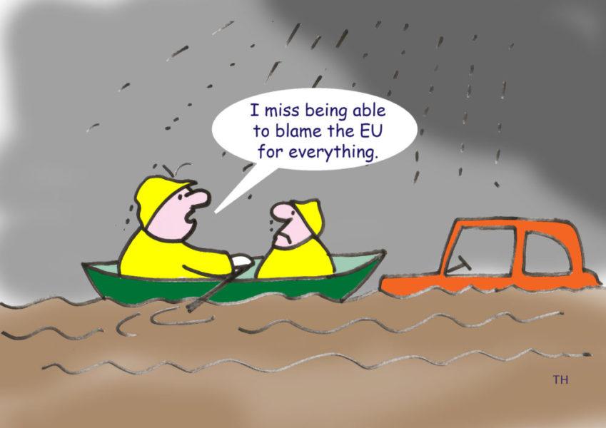 Ted Harrison cartoon on the UK's flooding