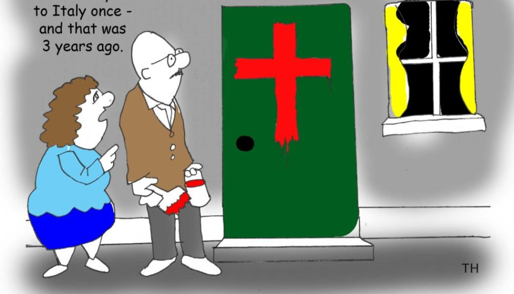 Italy coronavirus cartoon