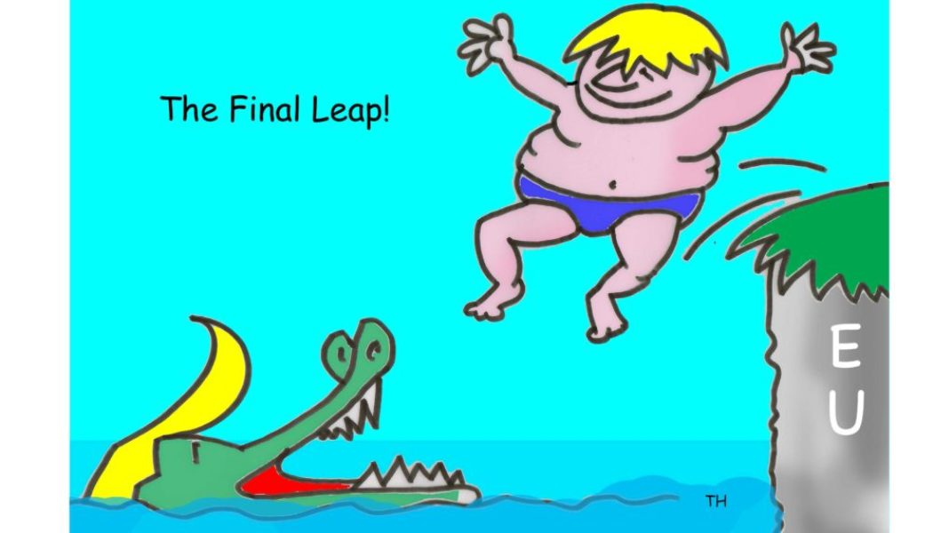 Ted Harrison cartoon on Boris Johnson and Brexit