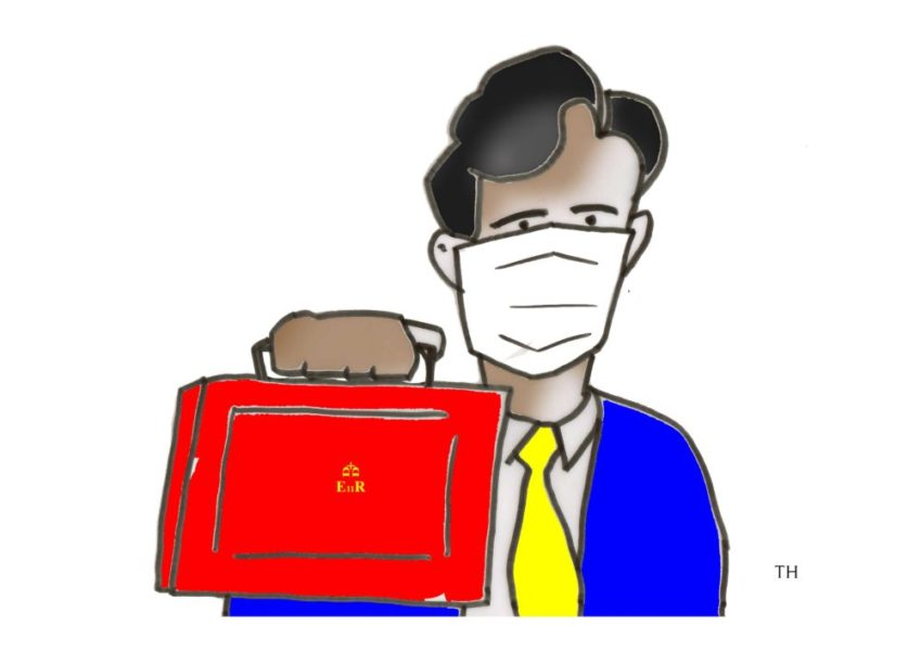 Ted Harrison cartoon as the Chancellor Rishi Sunak's first Budget sets to be dominated by the coronavirus crisis