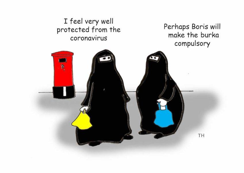 Burka Boris Johnson cartoon