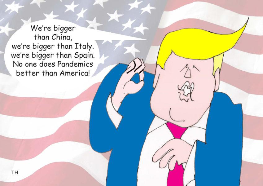 Donald Trump coronavirus cartoon
