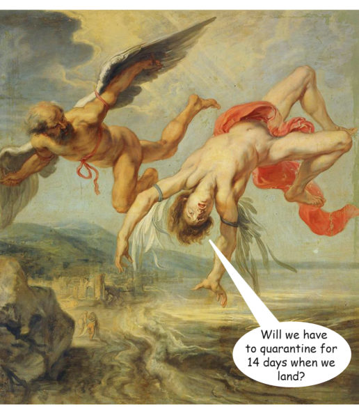 Jacob Peter Gowy 'The Fall of Icarus'